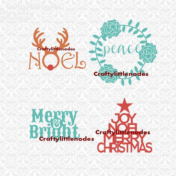 Download Noel Deer Peace Wreathe Merry & Bright Joy by ...