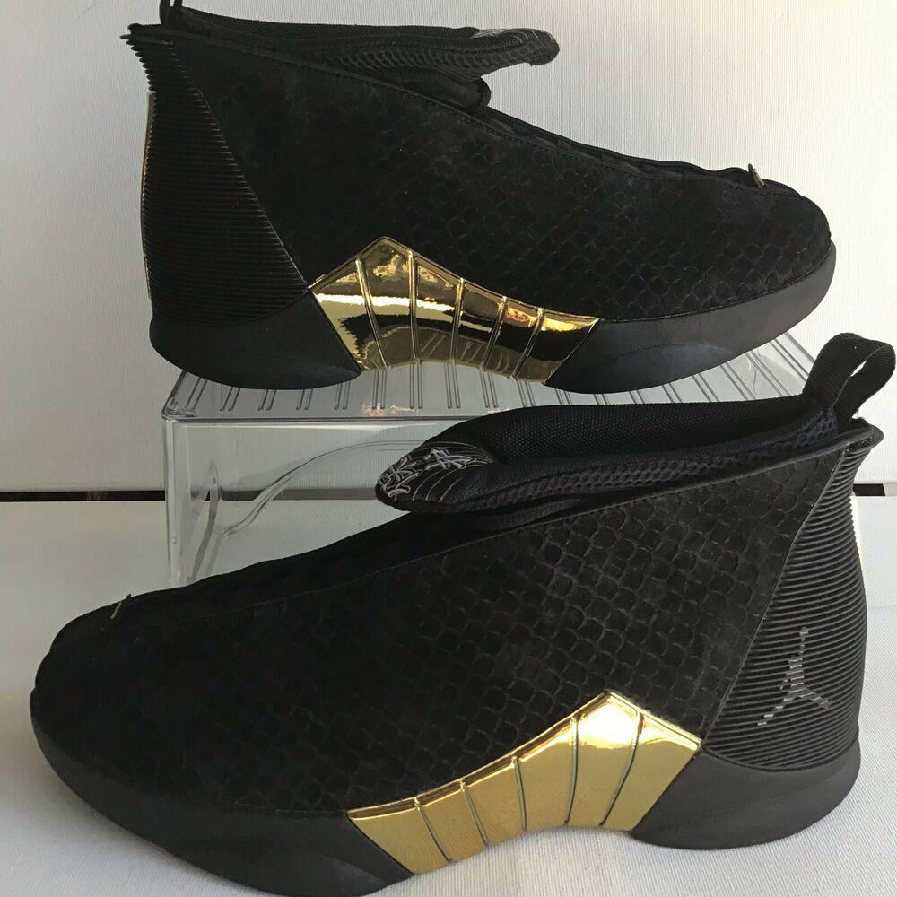 "f6937936ed8dda NIKE AIR JORDAN 15 RETRO DB ""DOERNBECHER"" BLACK NO BOX LID- SZ.9  (BV7107-017)  shoes  kicks  sneakers"