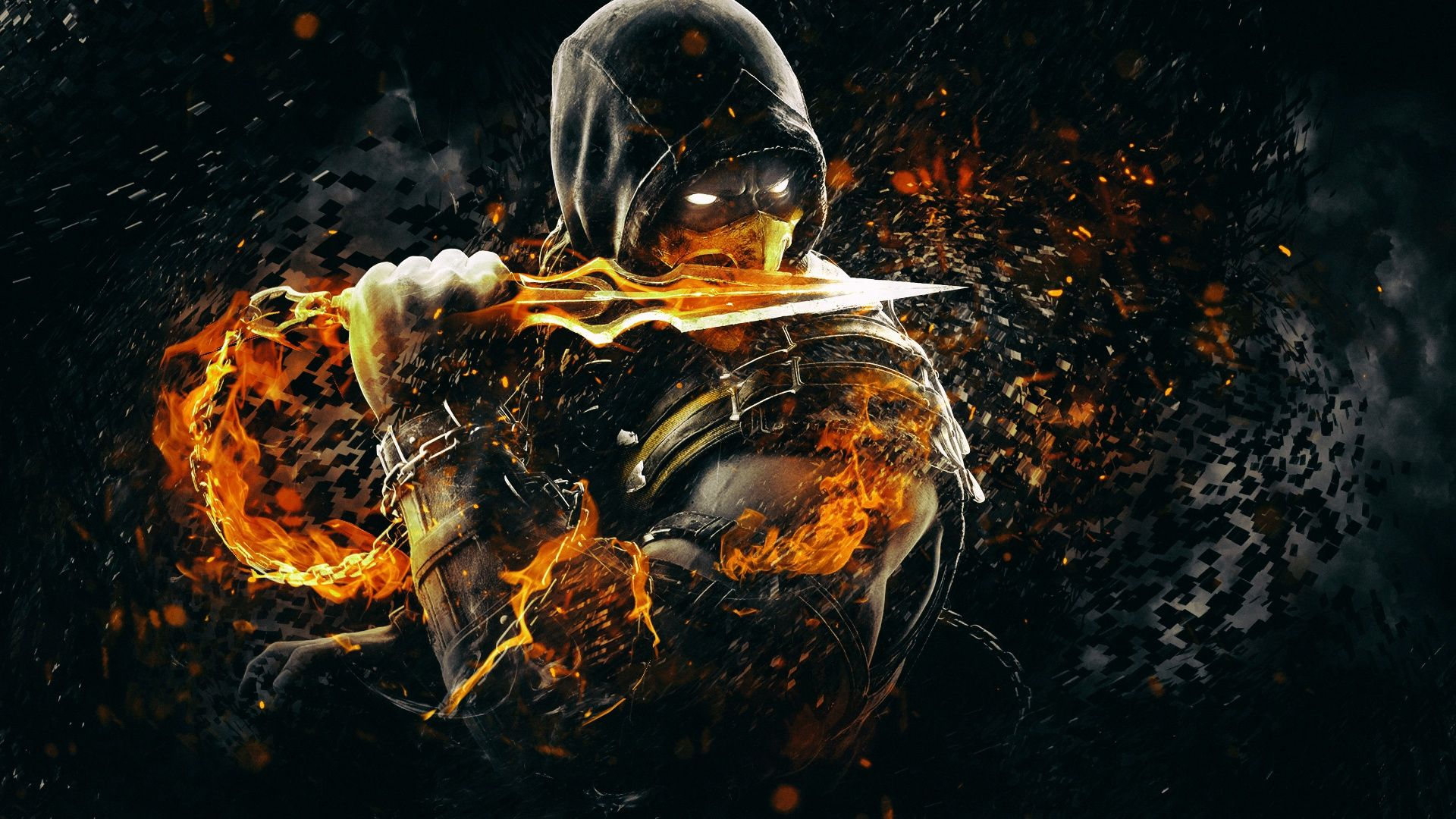 Scorpion Mortal Kombat X Art Hd Wallpaper [1920 x 1080