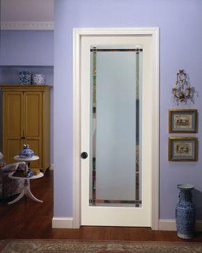 9 Lite Obscure Decorative Glass Interior Door