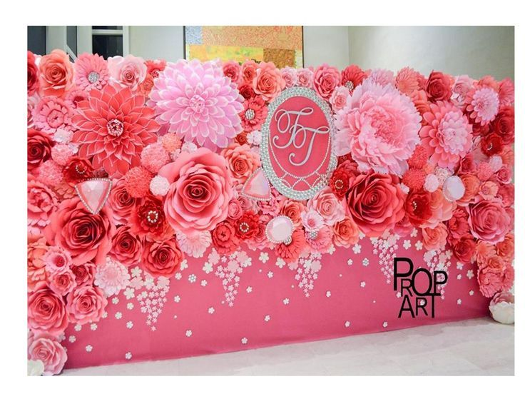 painel com flores de papel Pesquisa Google Artesanatos Flores aniversário, Decoraç u00e3o  -> Decoração De Flores De Papel Para Aniversario