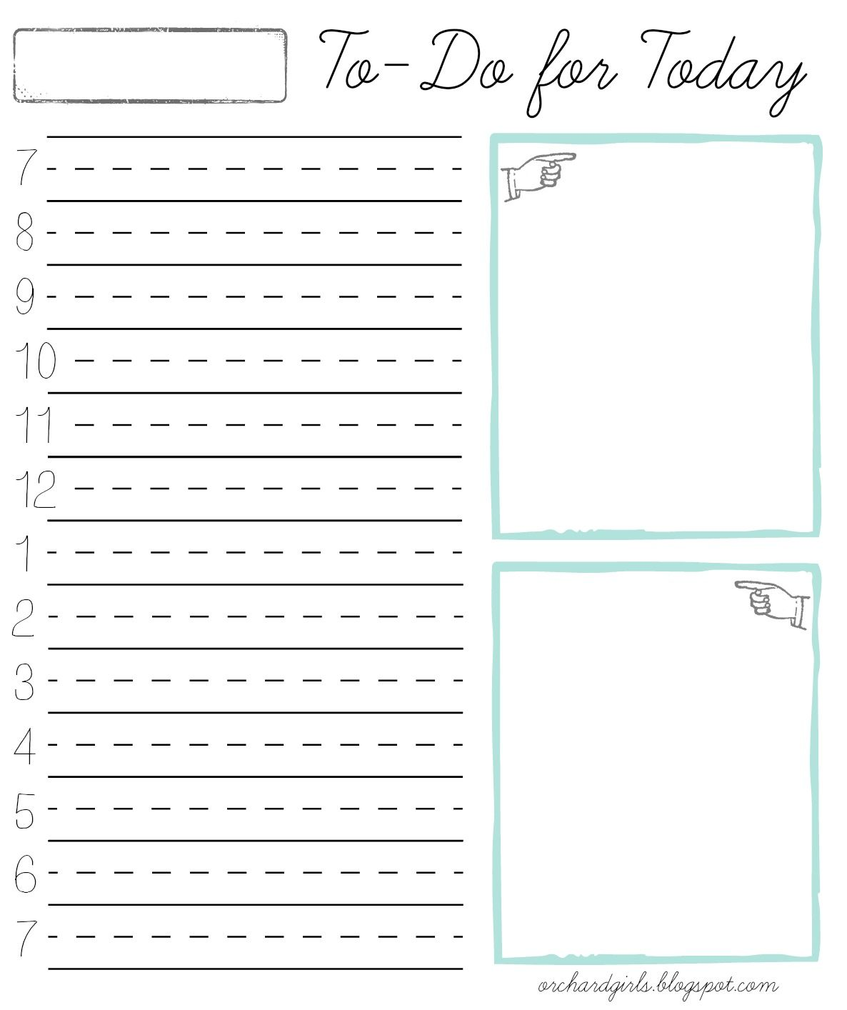 Orchard Girls: Daily Time Block Notepad W/ FREE Printable