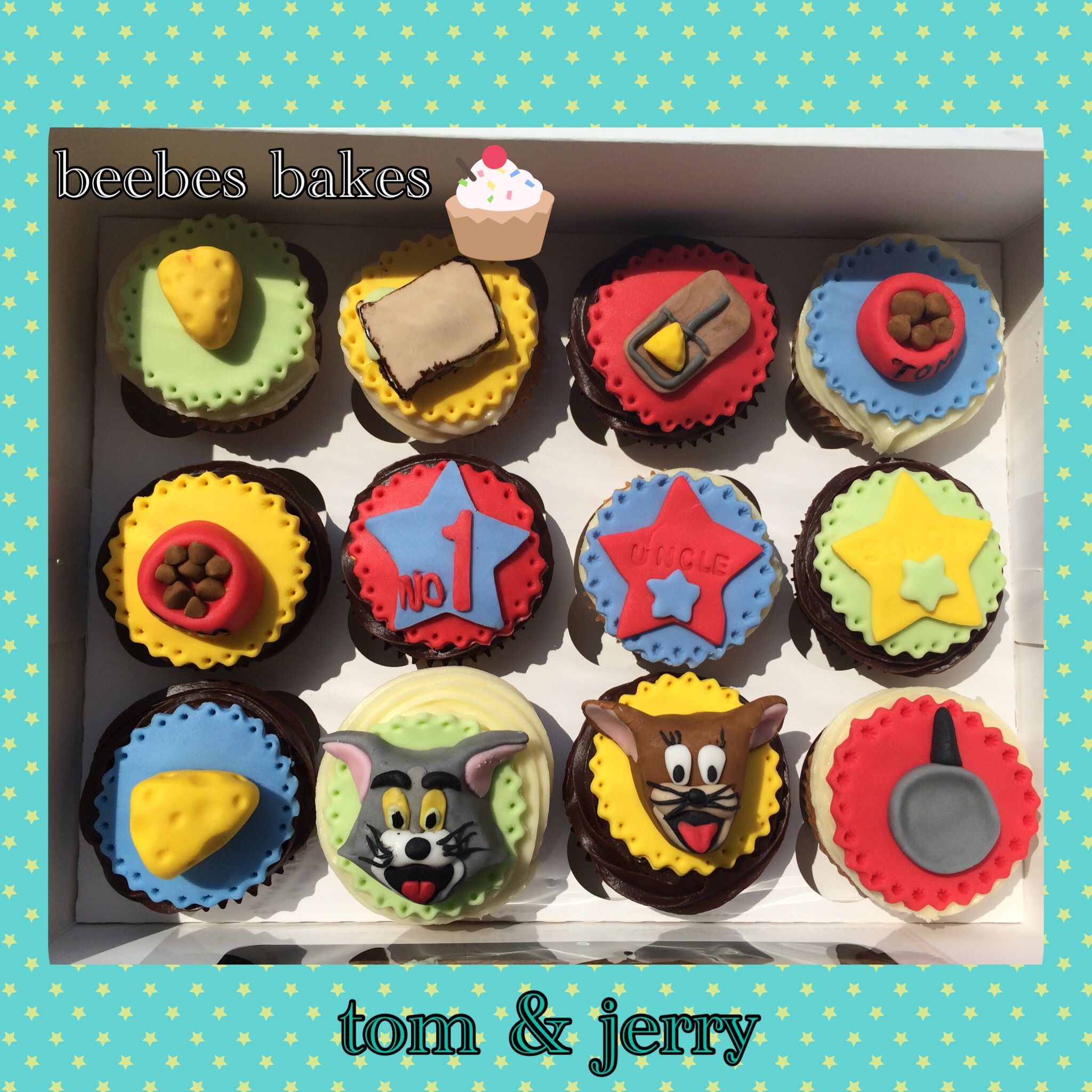 Tom jerry cupcakes Cakes Pinterest Frosting and Cake