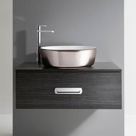 Delightful Bauhaus Pearl Platinum Countertop Basin   450 X 350mm