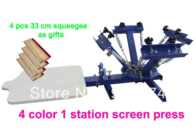 8b1cbd22 FAST FREE shipping! with GIFTS 4 color 1 station silk screen printing  machine t-shirt printer press equipment carousel squeegee