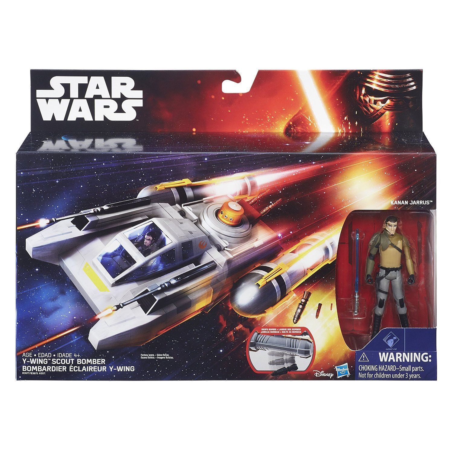 Star Wars Y-wing SCOUT BOMBER avec CLONE TROOPER pilote Véhicule et Figurine