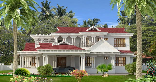 South Indian Style House Designs With House Plans House Paint Exterior Kerala House Design Exterior House Paint Color Combinations