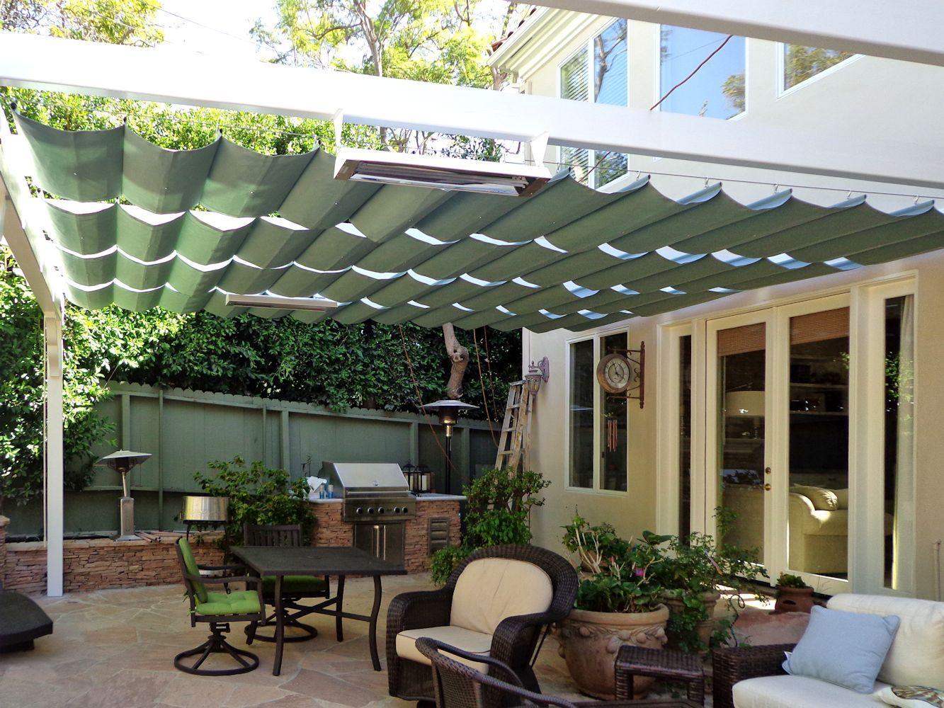 Slide Wire Canopy Outdoor Living & Garden Ideas