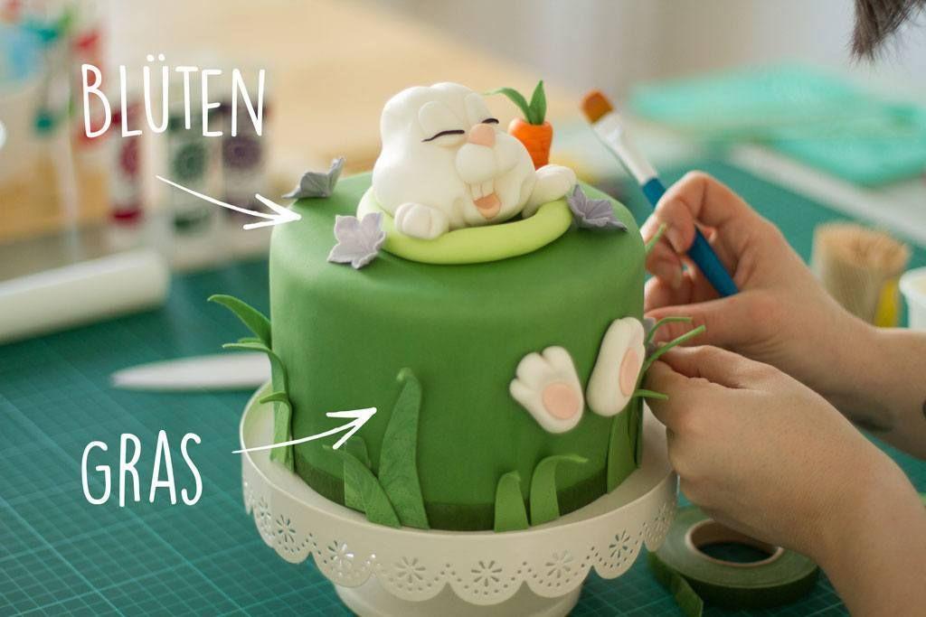 Tutorial Oster Torte Mit Fondant Hase Handmade Kultur Fondant Torten Motivtorten Themenbezogene Torten