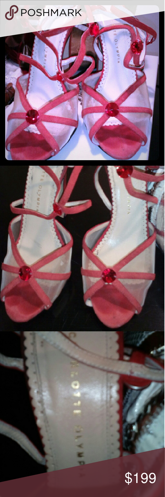 Charlotte Olympia shoes. Gently used. 7 cm  heels. Charlotte Olympia Shoes Heels