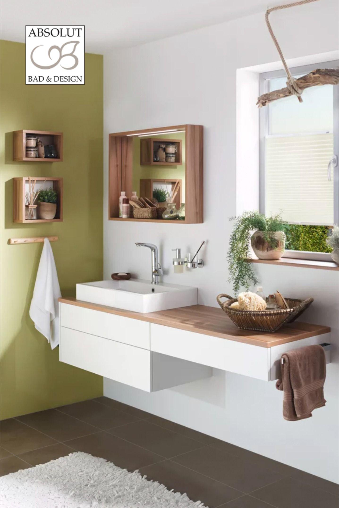 Elegante Waschtischzeile im Finca-Stil