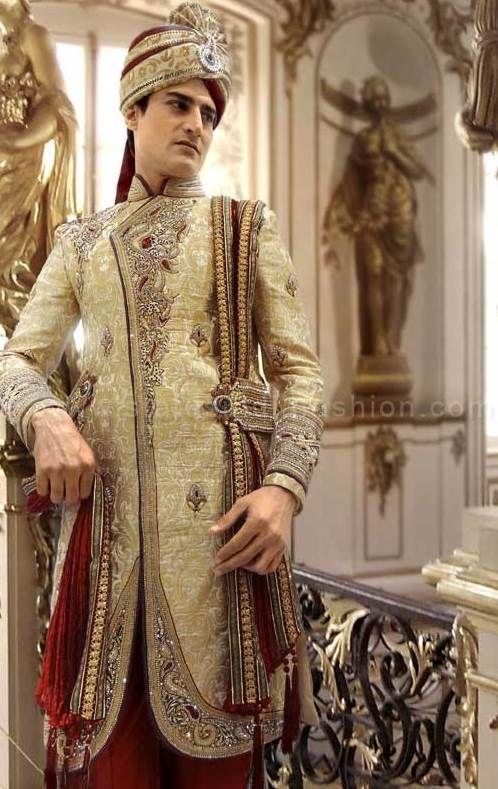 gold sherwani, sherwani uk, Asian clothes, designer wedding ...