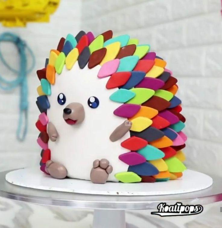 Igelkuchen - In der Idee des Katzenkuchens kann dies eine gute Alternative zu ... - Camping #hedgehogcake