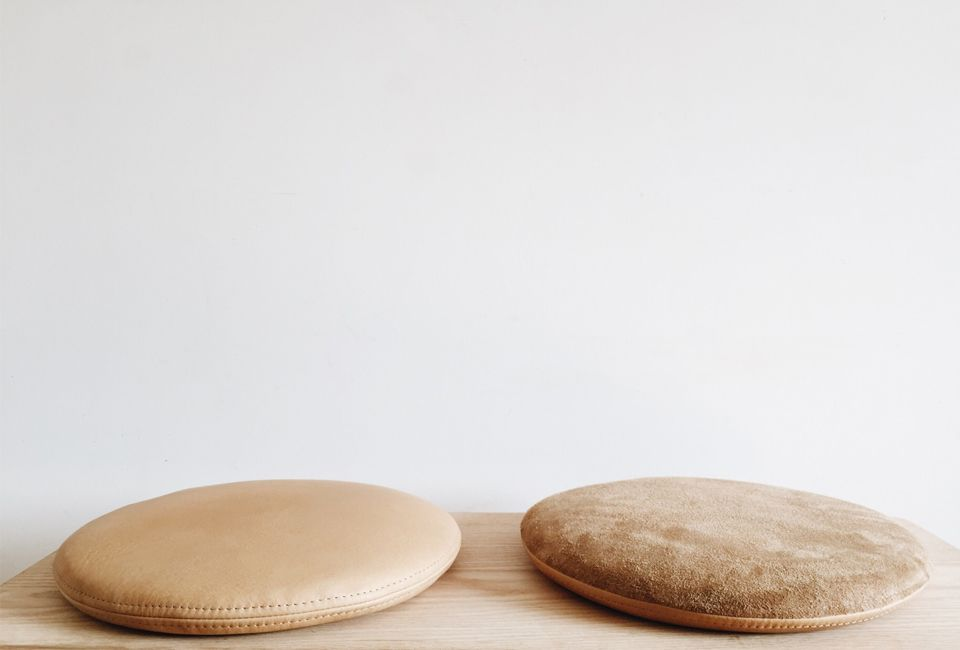 Counter Space Furniture And Homewares For Mindful Living California Style Remodelista Leather Cushion Leather Stool Round Seat Cushions