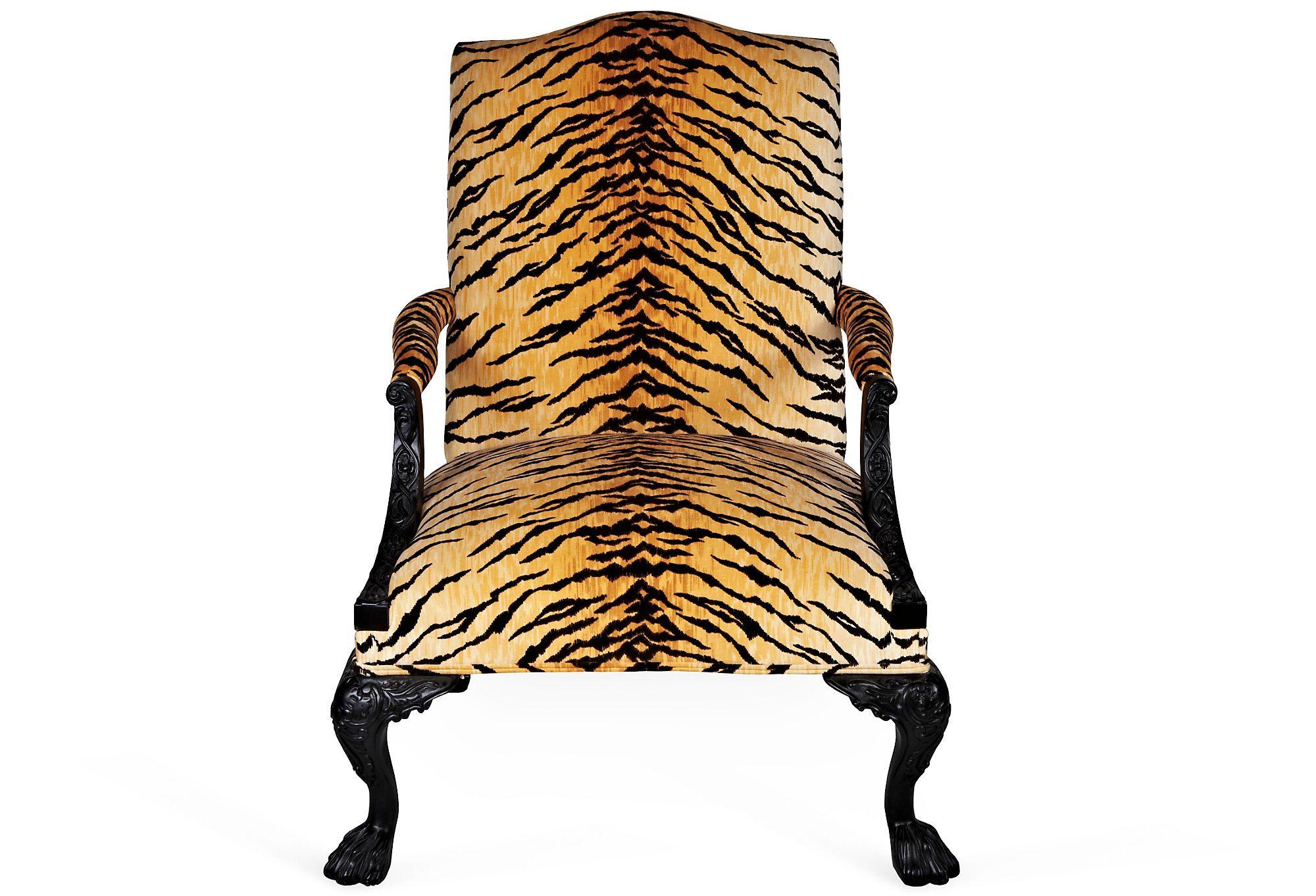 George III Tiger Print Chair