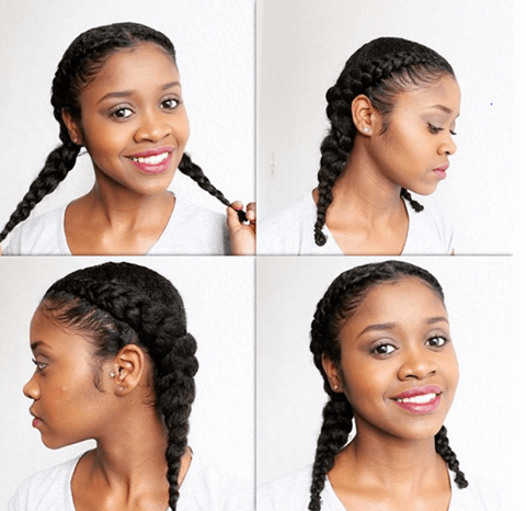8 Easy Flat Braid Hairstyles Natural Hair Styles For Black Women Natural Hair Styles Easy Natural Hair Styles