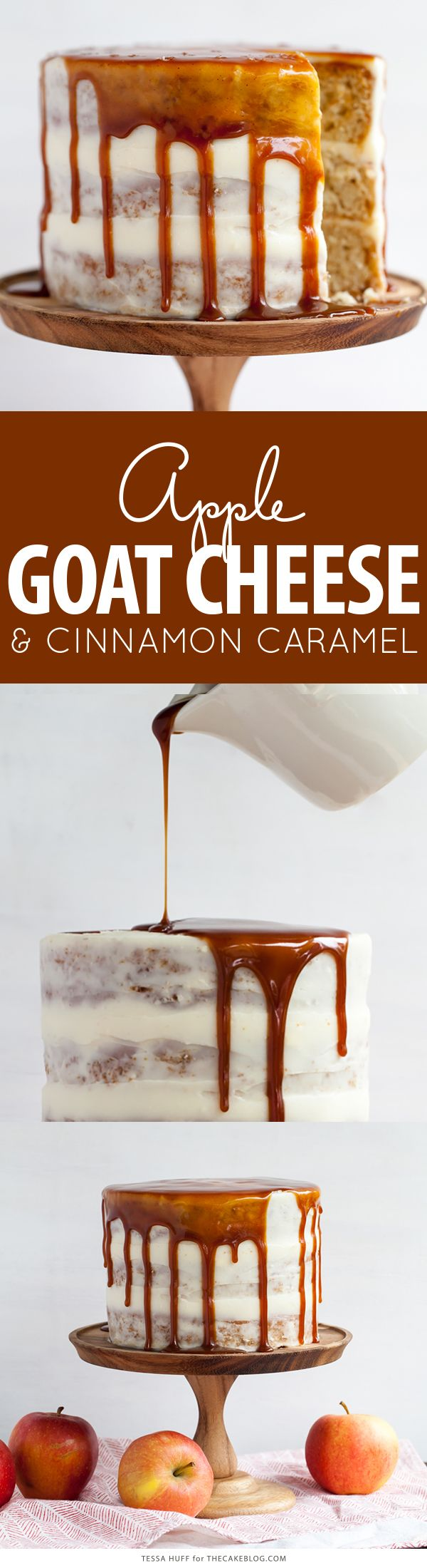 Apple & Goat Cheese Cake Cake recipes, Goat cheese