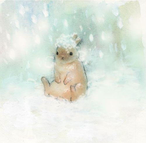 「snow rabbit」 illustration by USAKURA