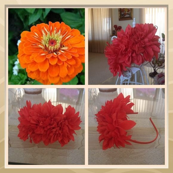 Large Flower headband Amazing headband beautiful statement piece great for Hawaii vacation as well  Accessories Hair Accessories