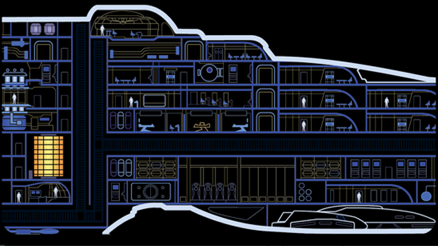 the MSD of Star Trek\'s USS Voyager