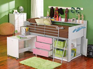 Ordinaire Charleston Loft Bed With Desk And Storage   Walmart $399.