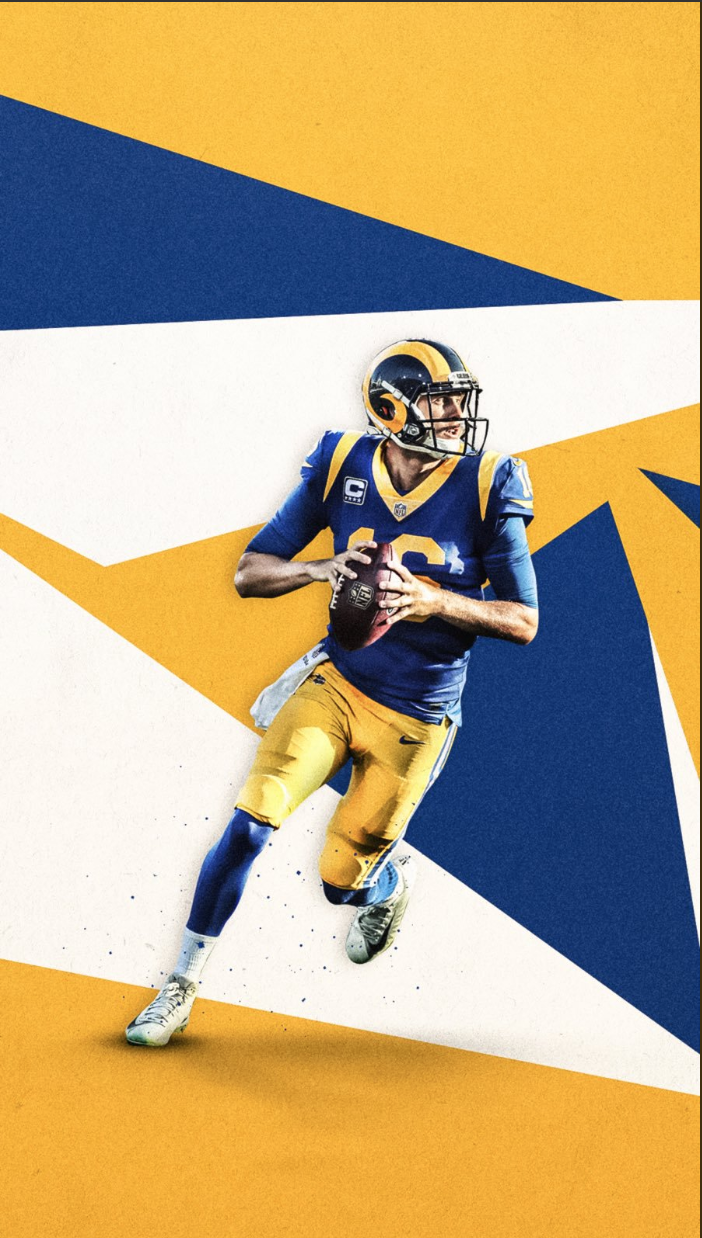 Pin By Hannah With A Camera On S P O R T D E S I G N Sports Graphic Design Football Design Jared Goff