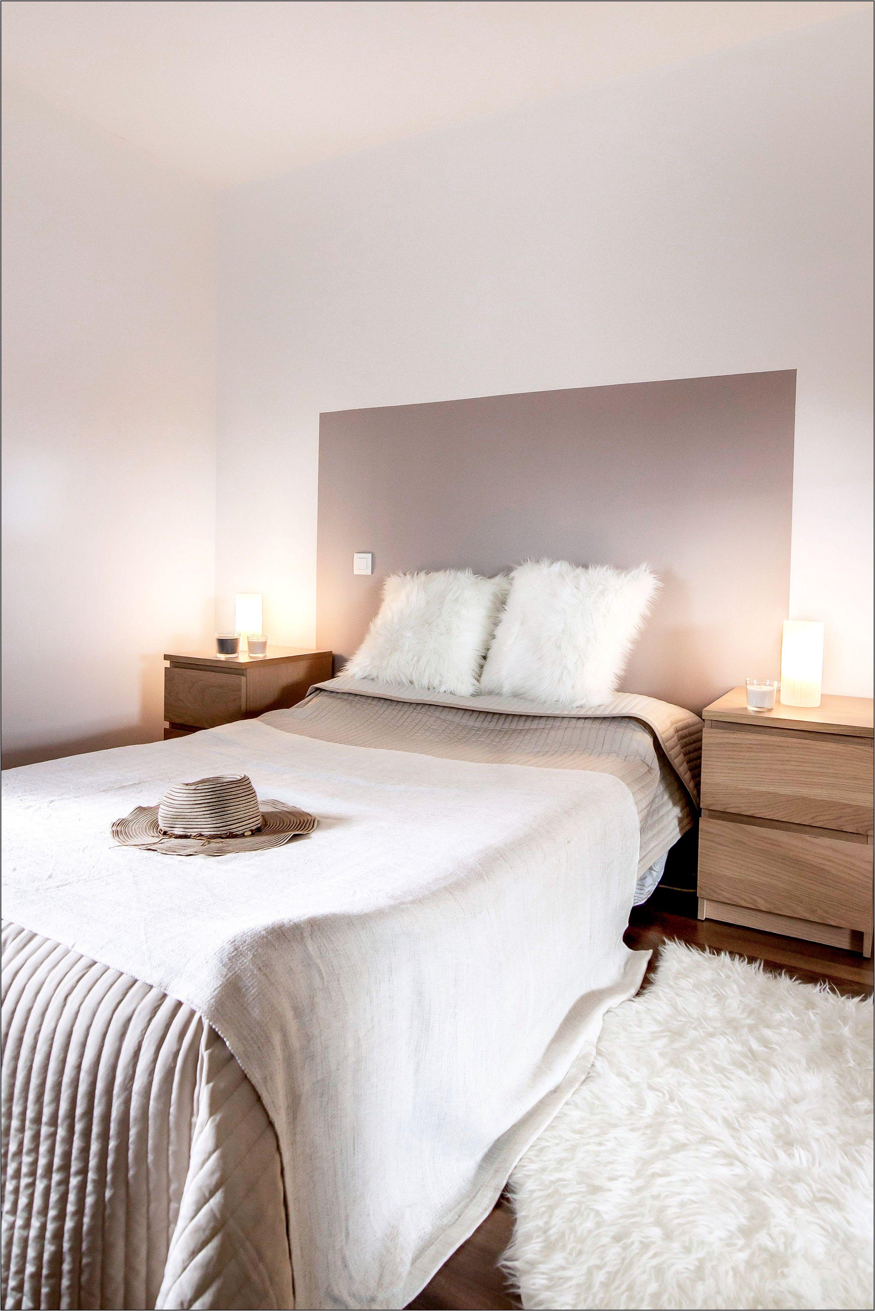 Deco Chambre Avec Tete De Lit En Bois Blanc In 2020 Interior