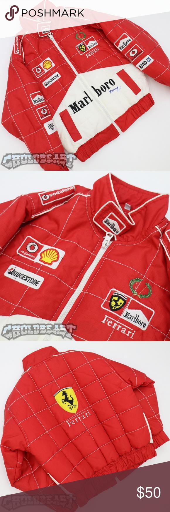 Vintage 90s Marlboro Racing Ferrari Loreal Shell 4 Vintage Jacket Clothes Design Kids Jacket