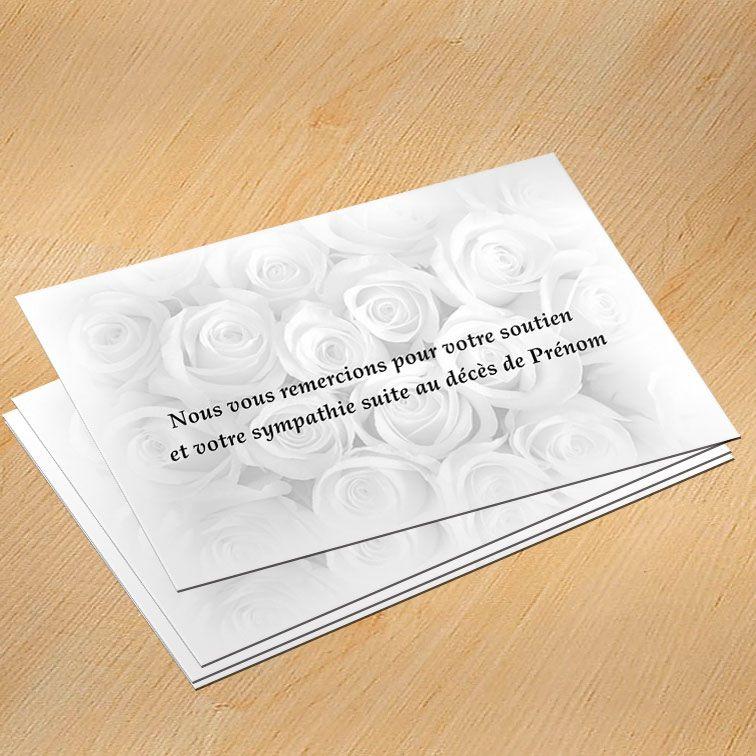 Modèle Carte De Remerciement Décès Gratuit Avec Rose