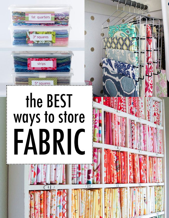 The best ways to store fabric | Fabrics, Shop and Sewing rooms