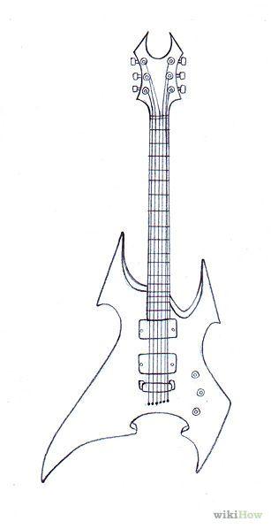 Image:Draw Guitars Step 12.jpg | Dibujos | Pinterest | Guitarras ...