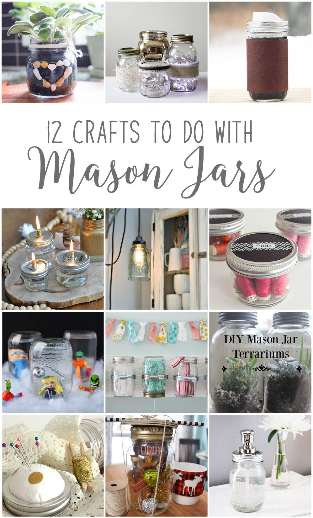 12MonthsofDIY January Mason Jar DIY Craft Ideas   DIY - For the Home ...