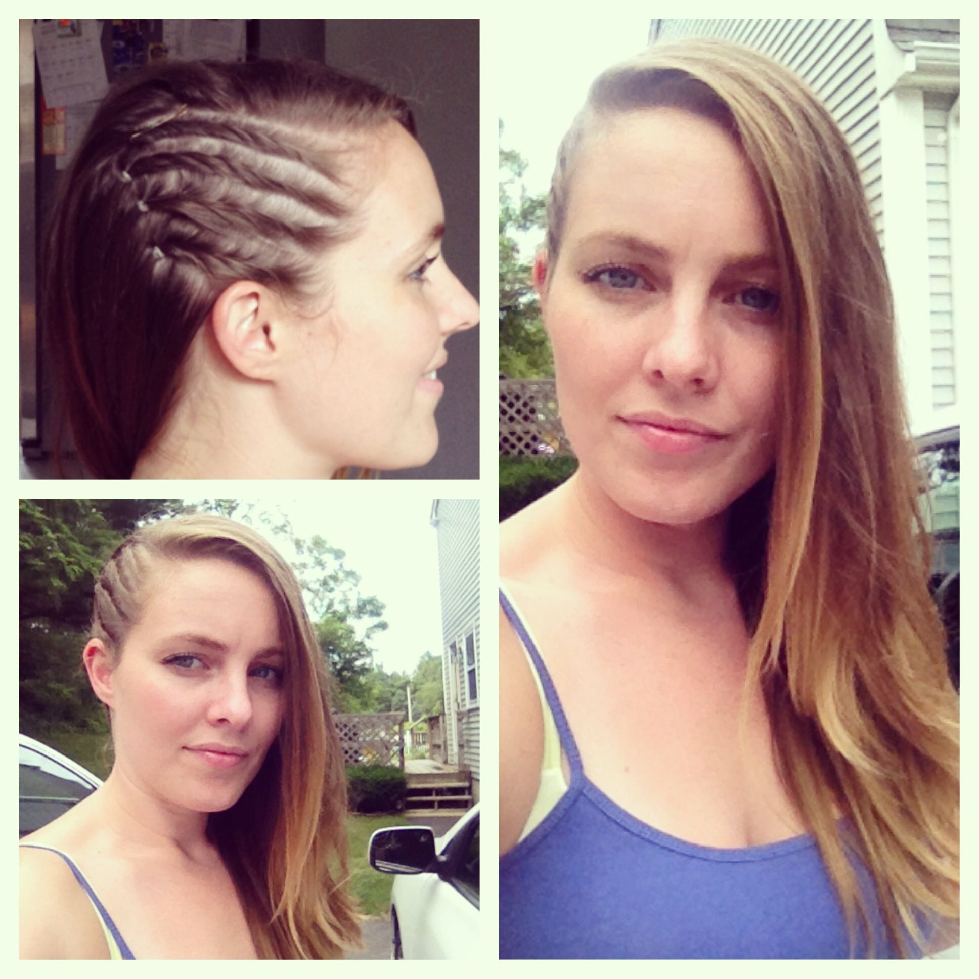 Some faux cornrows with a deep side part on my mean mug   Follow my insta: AbFabHairstyling