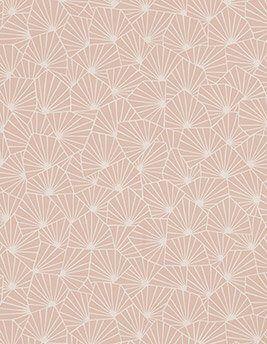 Papier peint SACHA 100% intissé motif graphique, rose poudré