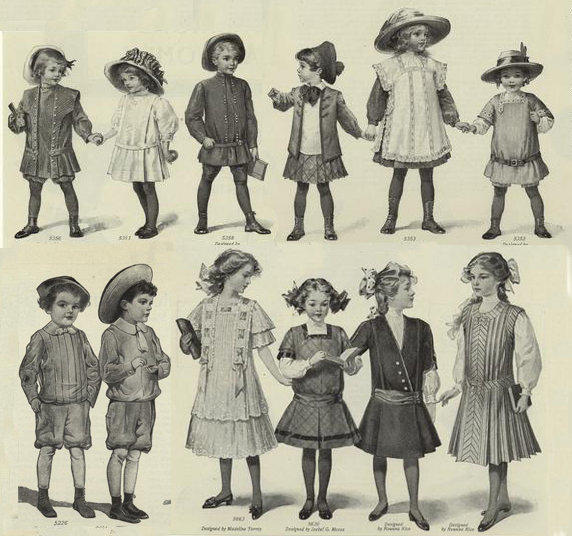 1900 s young adult fashions