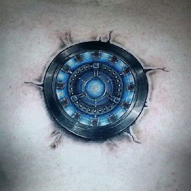 Arc reactor tattoo (With images) | Iron man tattoo, Arc ...