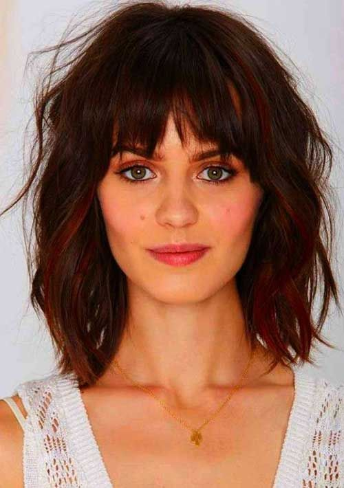 Long Hairstyles For Long Faces Beauteous Short Hairstyles With Bangs For Round Faces  Hair  Pinterest