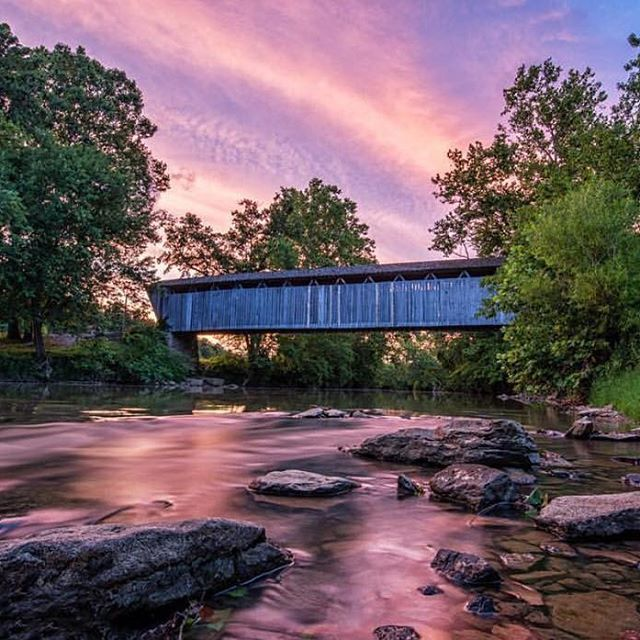 A Beautiful Capture Of Switzer Covered Bridge In Franklin County