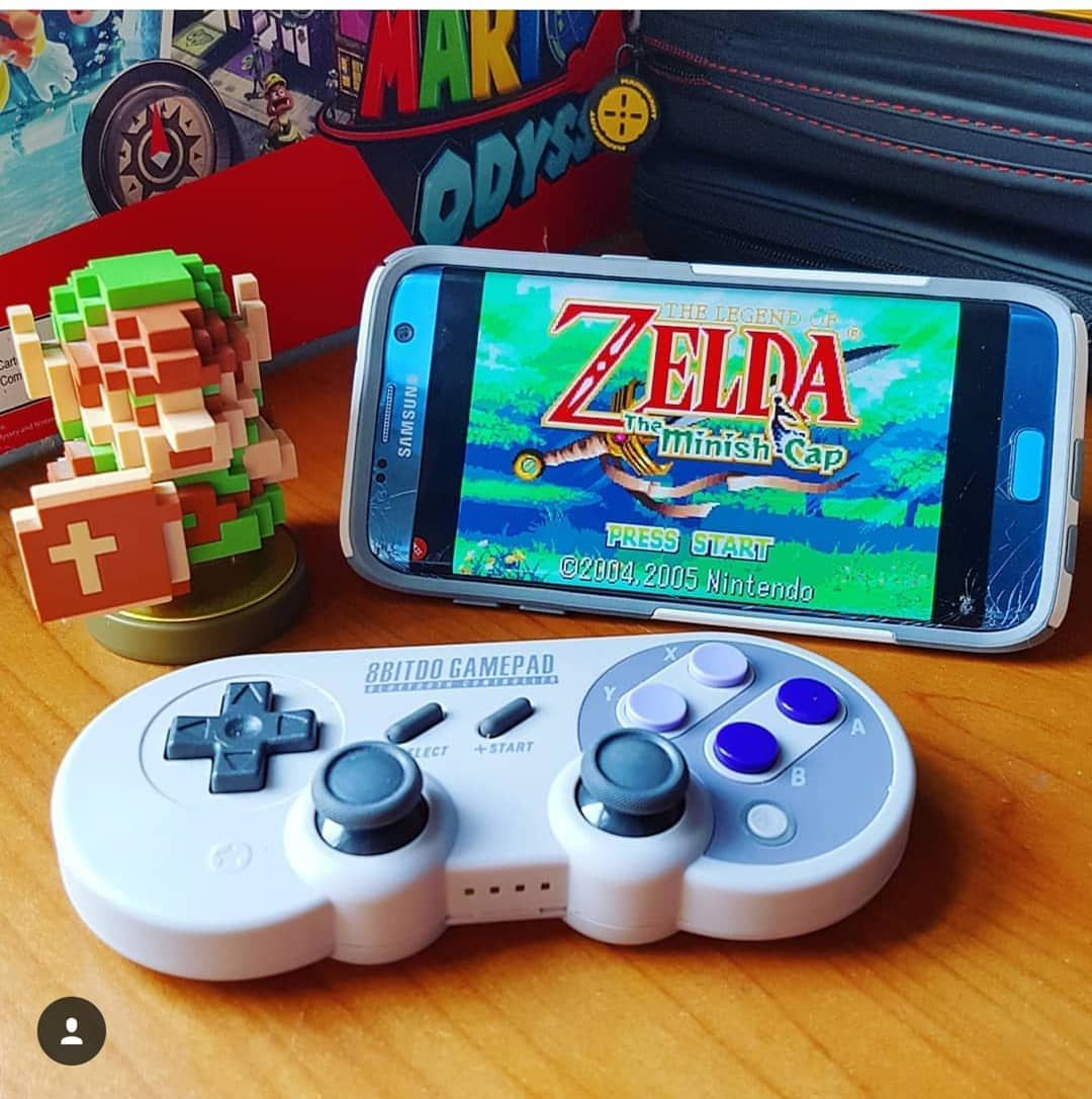 Playing Gba Emulator On Android With An 8bitdo Controller Hylianchris Zelda Snes Retrogame Nintendo Switch Accessories Nintendo Super Nintendo