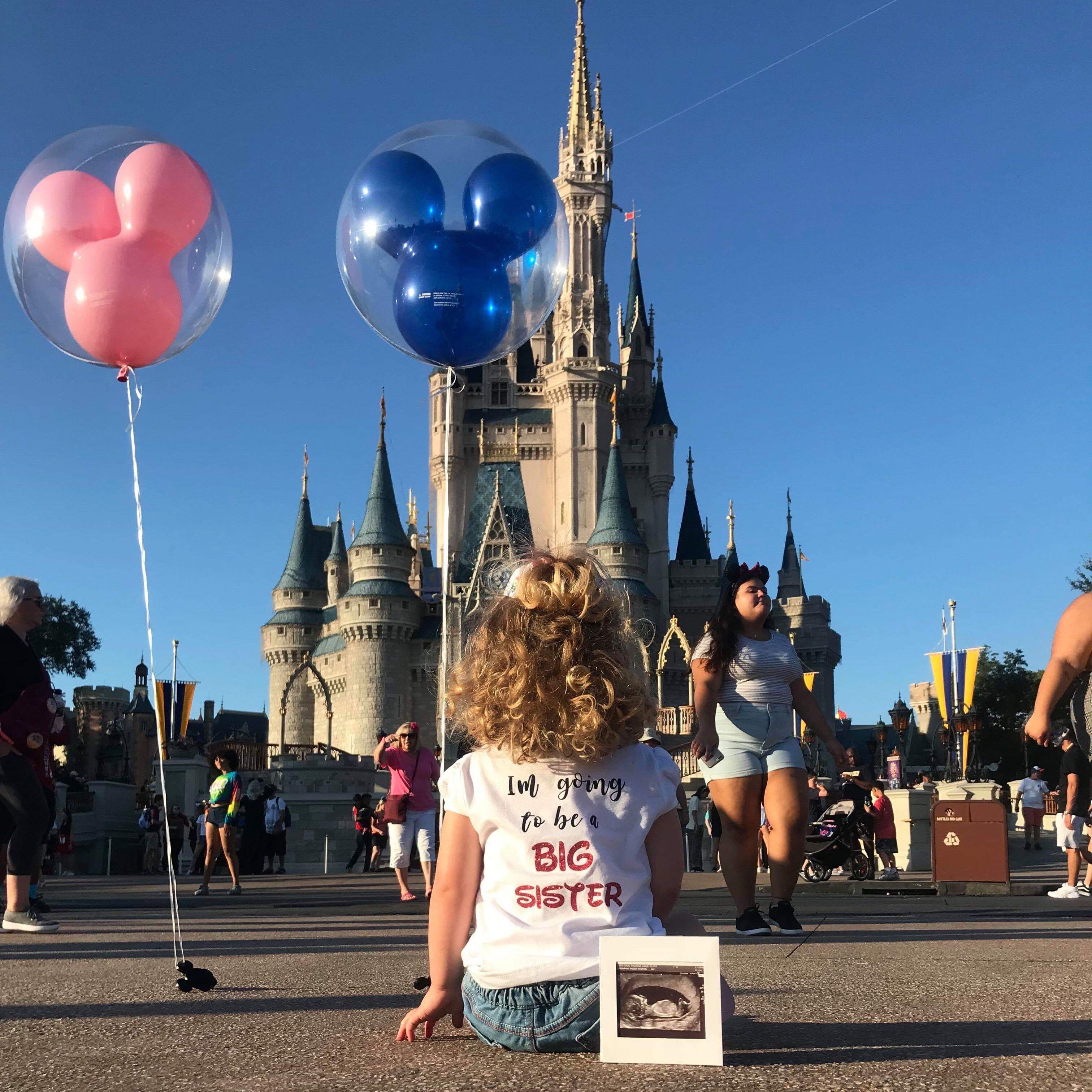 Disney Pregnancy Announcement Gender Reveal Pregnancy Announcement New Baby Onesie baby Girl Announcement Baby Onesie Baby Shower Gift