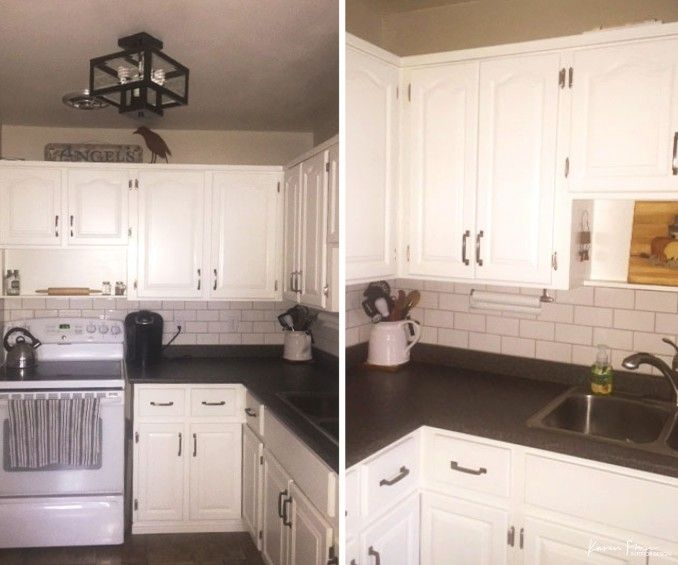 Before And After A 500 Kitchen Remodel Cheap Countertops