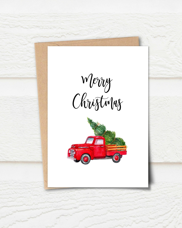 Printable Card Merry Christmas Card Christmas Greeting Card Holiday Greeting Card Red Christma Birthday Card Printable Merry Christmas Card Printable Cards