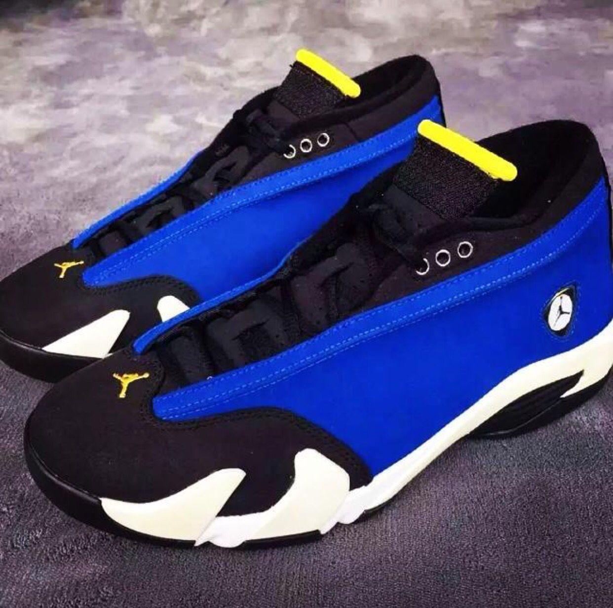 the best attitude d2ec4 04a42 inexpensive jordan 14 blue and yellow e90f1 93a3b
