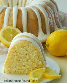 Italienischer Zitronen-Pfund-Kuchen - Luise.site #kuchenideen