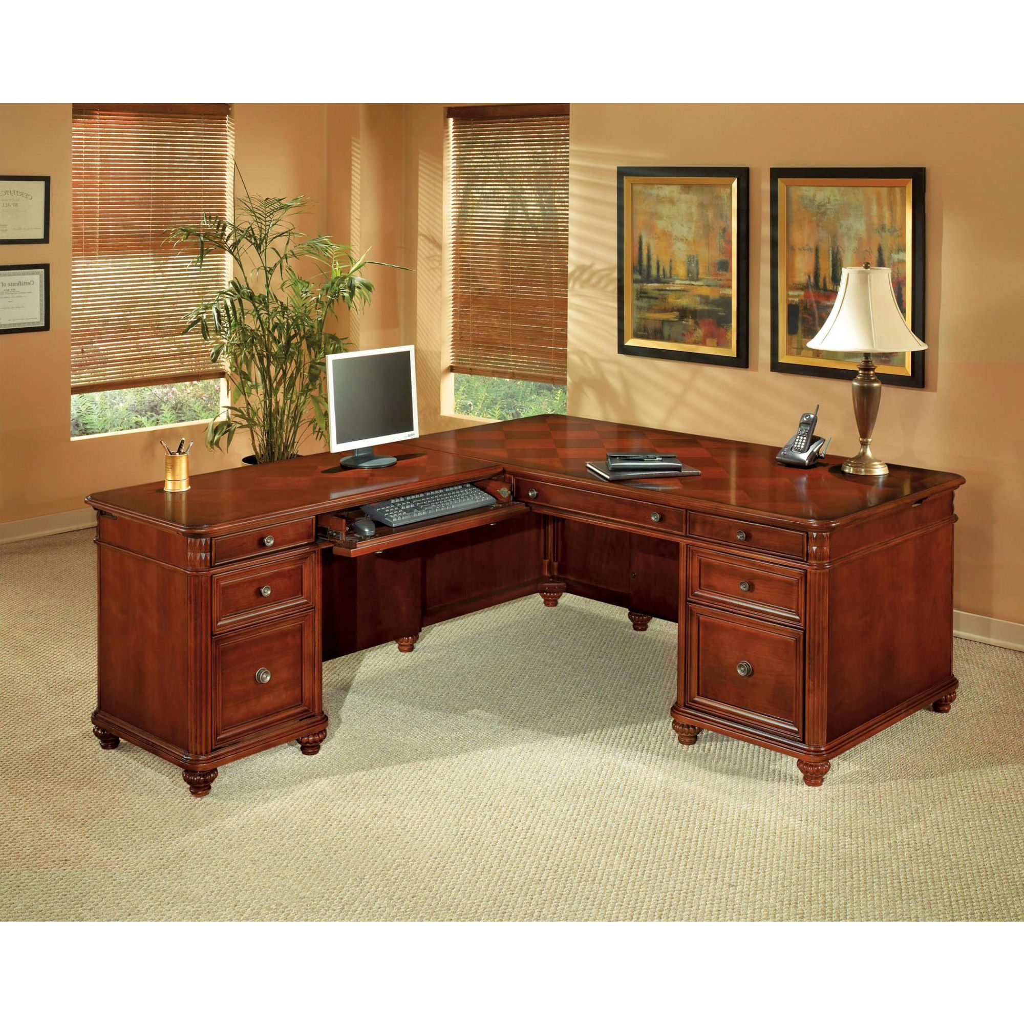 desk furniture office owned dmi crown pre executive product bernheim resized