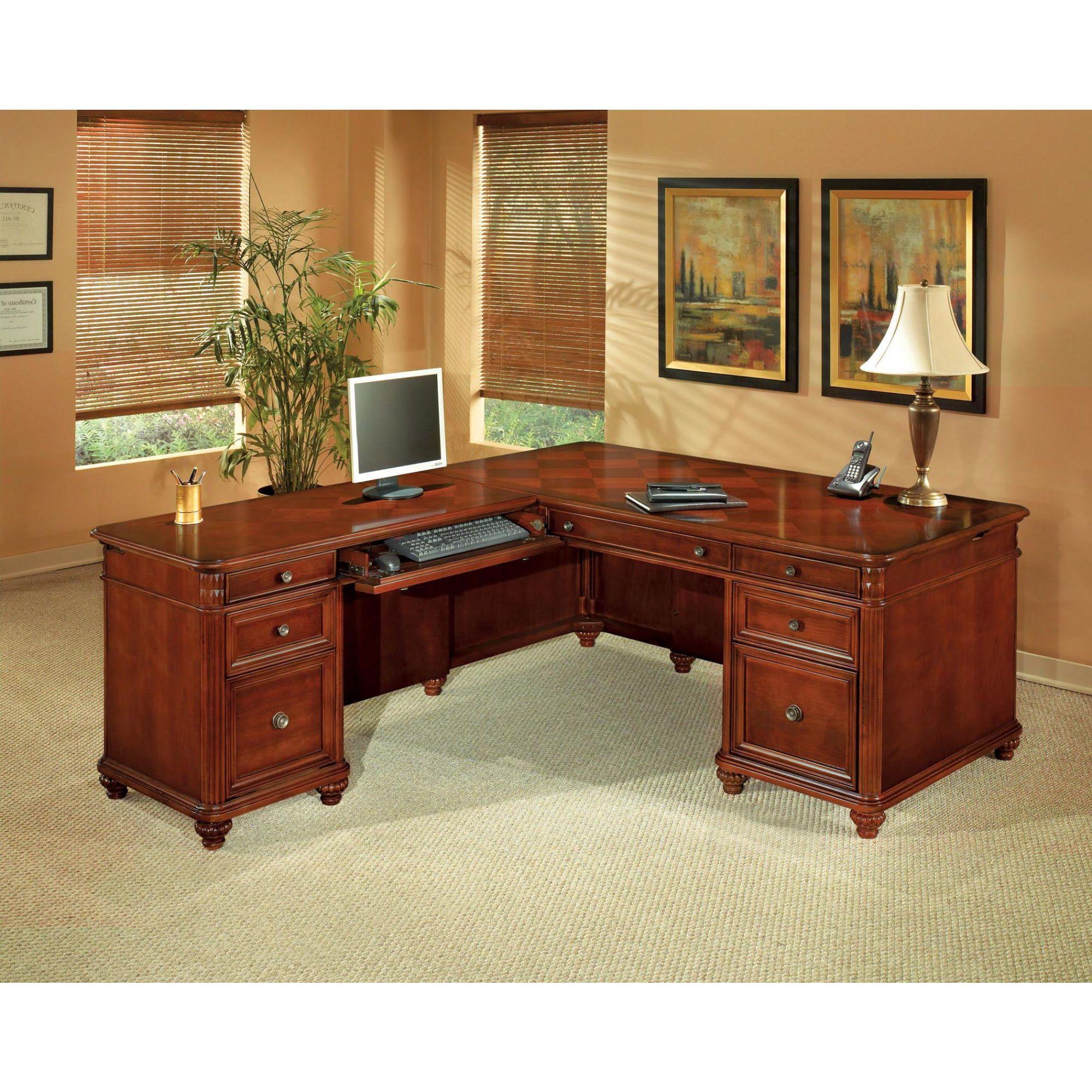 Antigua lshape executive desk furniture pinterest desk home