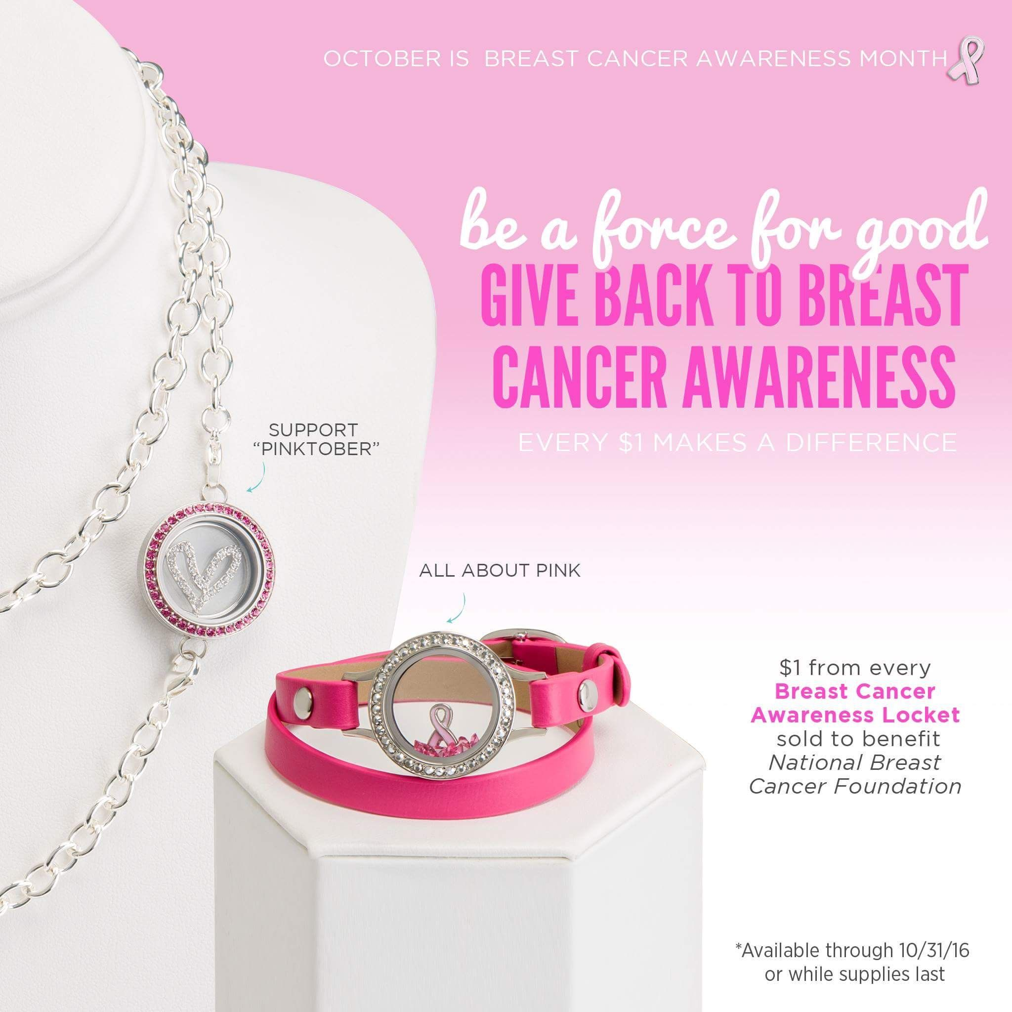 Exclusive Origami Owl look to give back. Pink wrap ... - photo#41