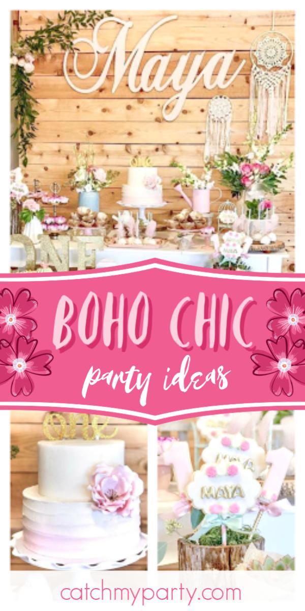 Boho Birthday Maya S 1st Bday In 2020 1st Birthday Party For Girls Tribal Birthday Party Birthday Party Decorations