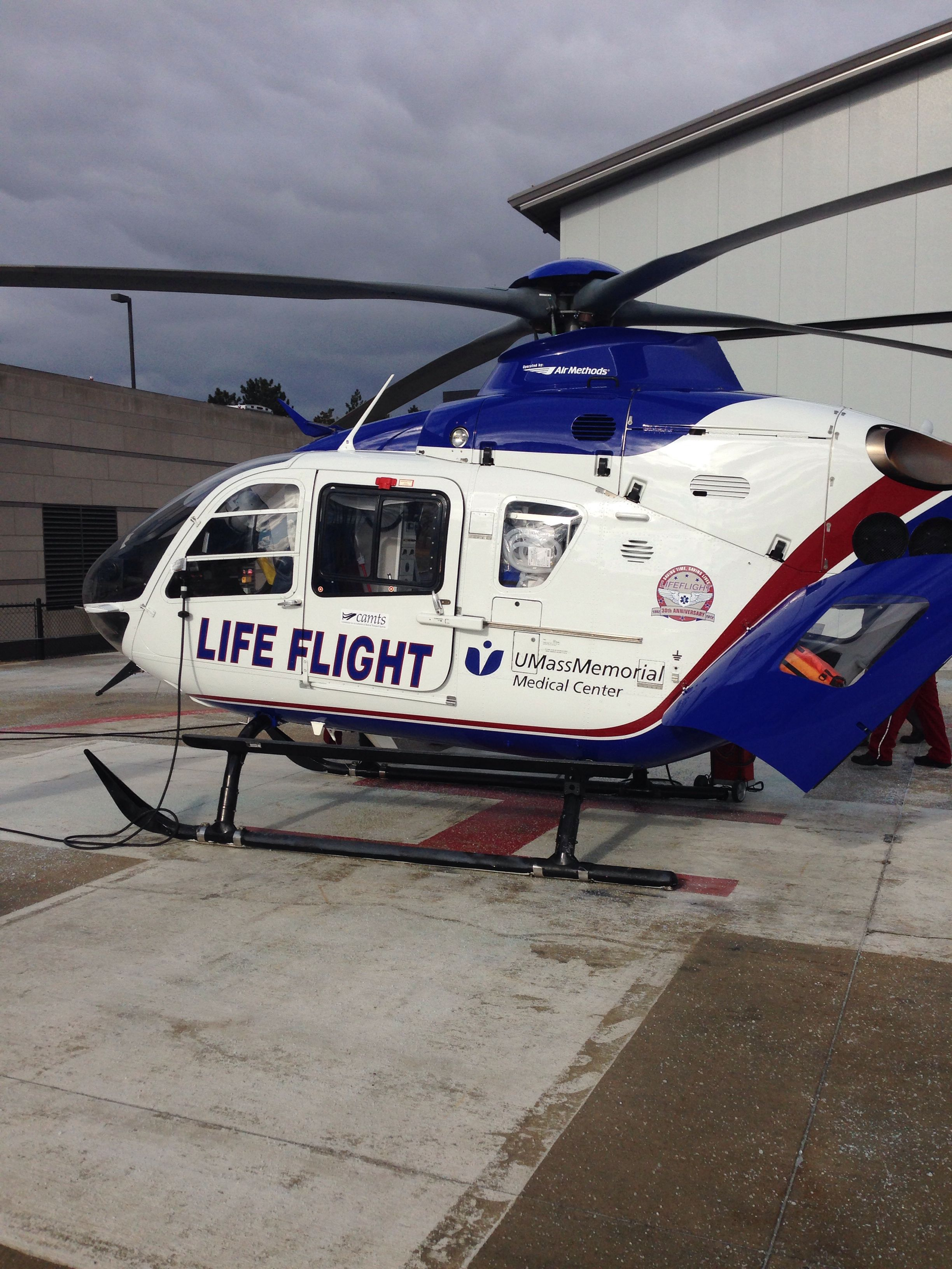 UMass Memorial LifeFlight at UMass Flight paramedic