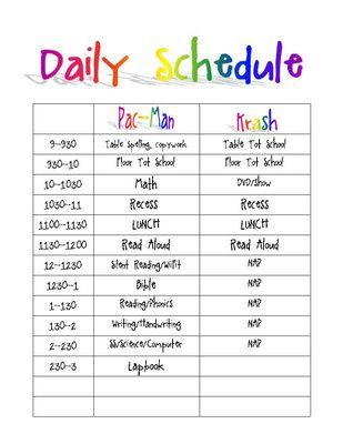 Behind The Scenes Routines Schedules And Planning 1 1 1 1 Daily Schedule Template Daily Schedule Kids Homeschool Schedule Template